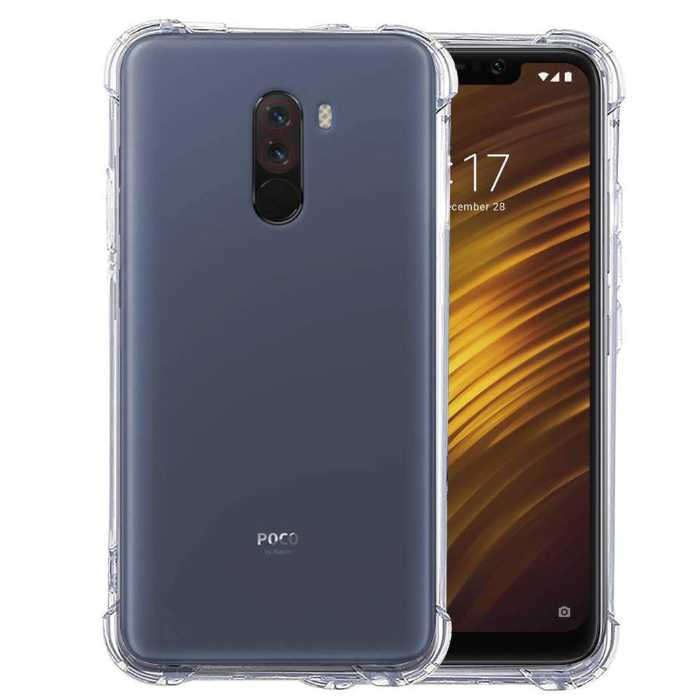 Anti Shock TPU Transparent Case - Poco F1-Hamee India