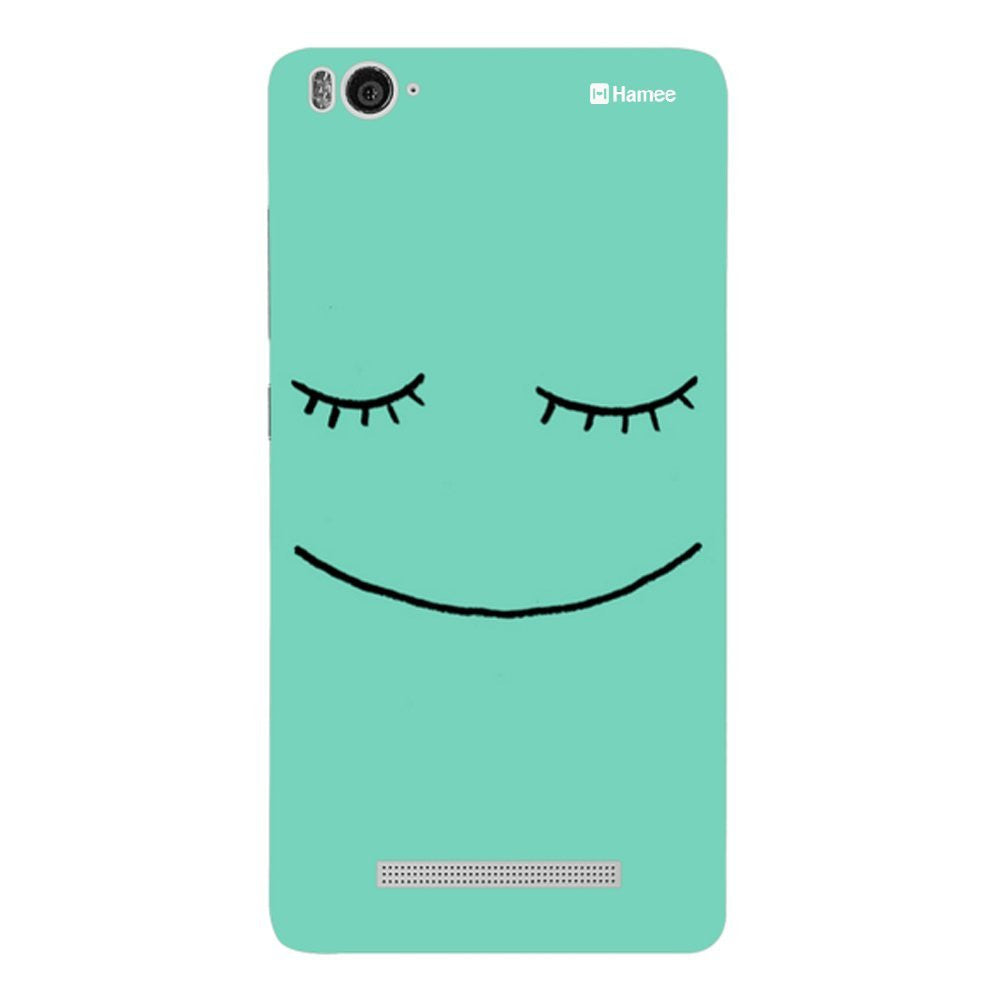 Hamee Cute Green Face Designer Cover For Xiaomi Redmi 3-Hamee India