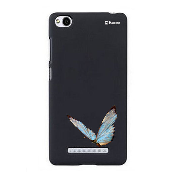 Hamee Blue Sitting Butterfly Designer Cover For Xiaomi Redmi 3-Hamee India