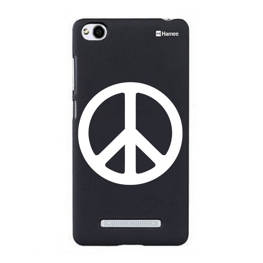 Hamee White Peace Designer Cover For Xiaomi Redmi 3 - Hamee India