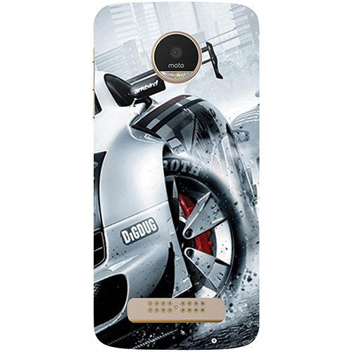 Hamee Drift Sport Print Design 3D Printed Hard Back Case Cover for Motorola Moto G5