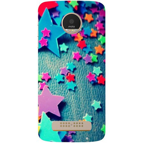Hamee Colorful Stars Design 3D Printed Hard Back Case Cover for Motorola Moto G5