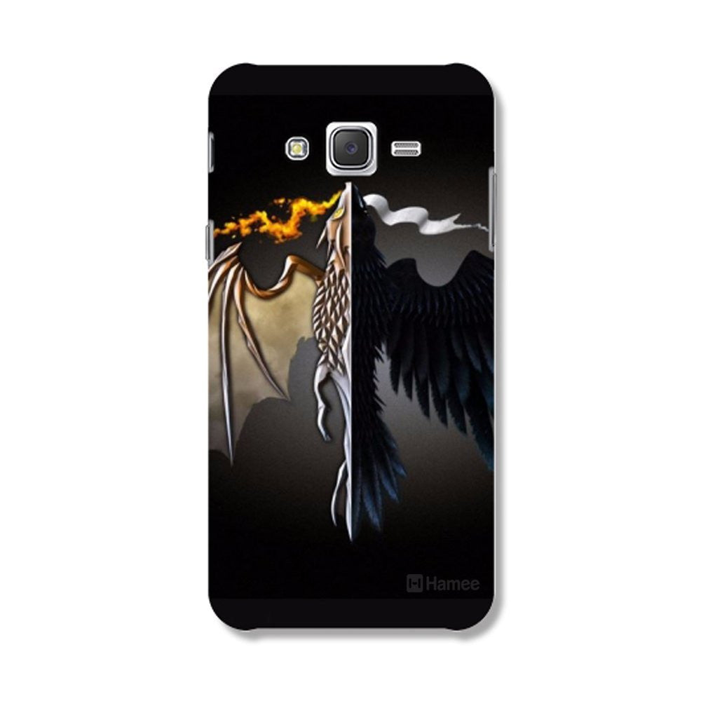Hamee Flying Beast / Black Designer Cover For Samsung Galaxy J7-Hamee India
