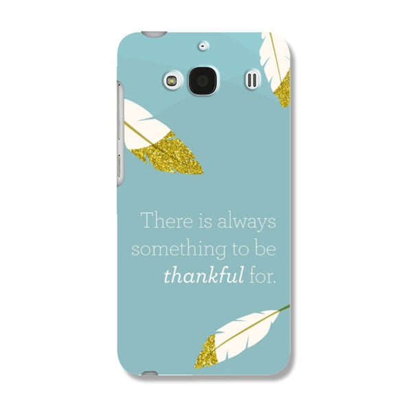 Hamee Thankful Feathers / Blue Designer Cover For Xiaomi Redmi 2 / 2 Prime - Hamee India
