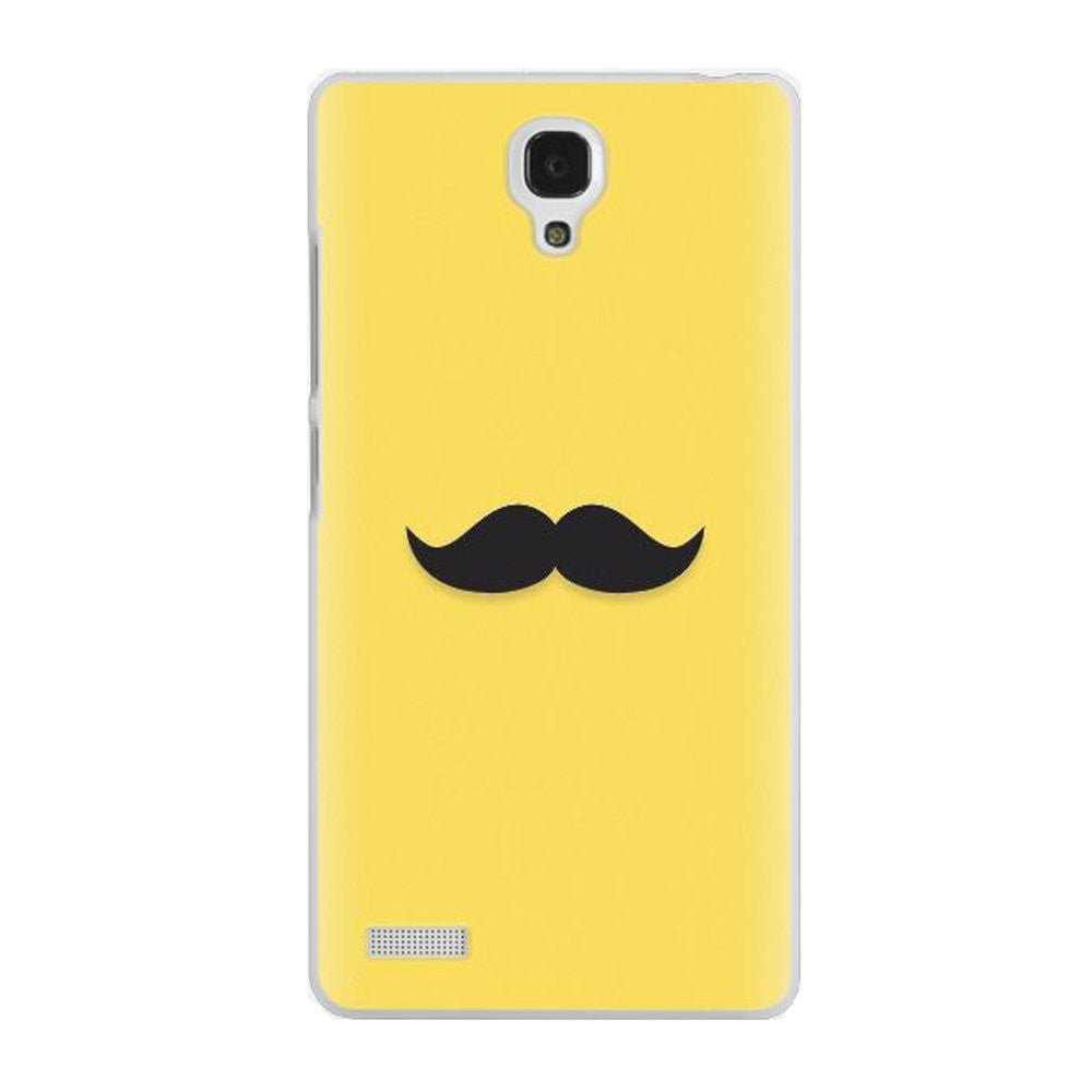 Hamee Moustache / Yellow Designer Cover For Xiaomi Redmi Note-Hamee India