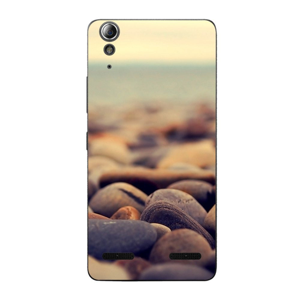 Hamee Pebbles / Multicolour Designer Cover For Lenovo A6000 / A 6000 Plus - Hamee India