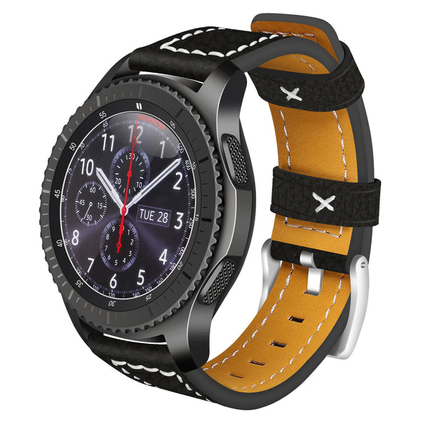 Black Leather Strap - Samsung S3 (42 mm)