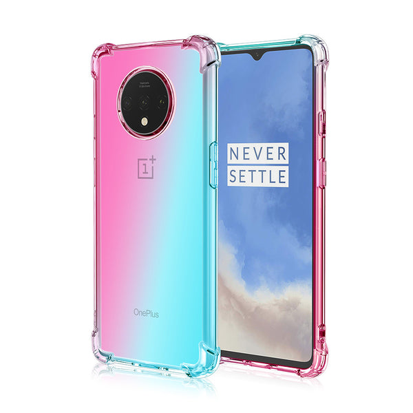 Gradient TPU Case for OnePlus 7T - Sky Blue & Pink