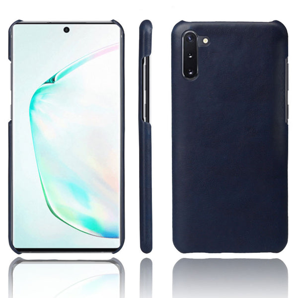 PU Leather Back Cover for Samsung Galaxy Note 10 (Blue)