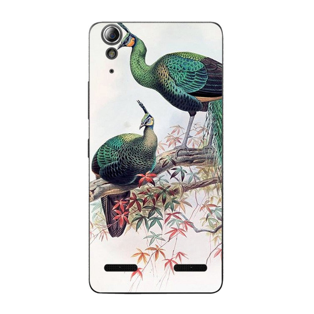 Hamee Two Peacocks / Multicolour Designer Cover For Lenovo A6000 / A 6000 Plus - Hamee India