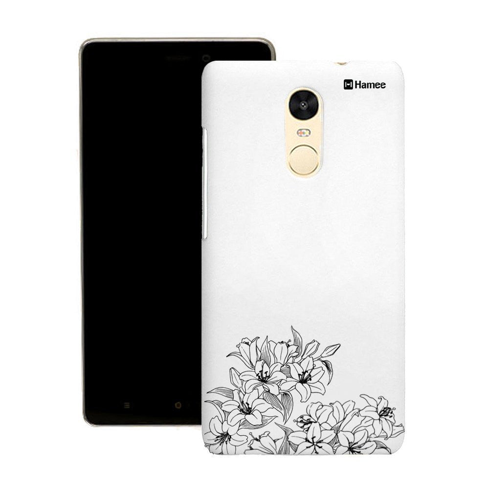Hamee Black Bottom Flowers Customized Cover for Motorola Moto G4 Plus-Hamee India