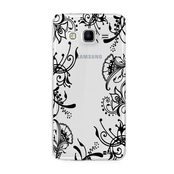 Hamee Black Side Vines Designer Cover For Samsung Galaxy J7 - Hamee India