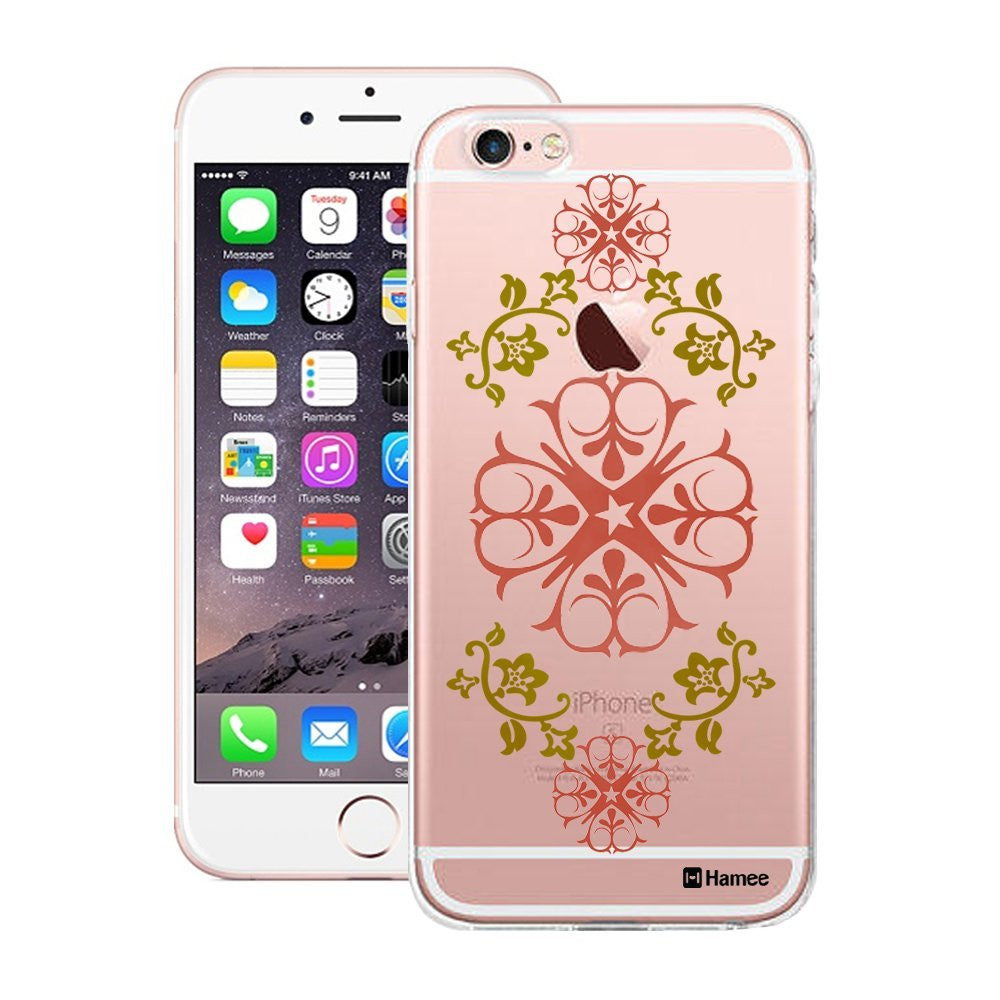 Hamee Pink Green Henna Designer Cover For Apple iPhone 6 Plus / 6S Plus - Hamee India