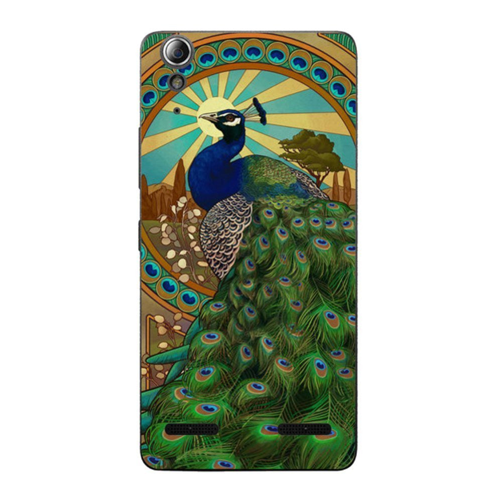 Hamee Peacock Pose / Multicolour Designer Cover For Lenovo A6000 / A 6000 Plus - Hamee India