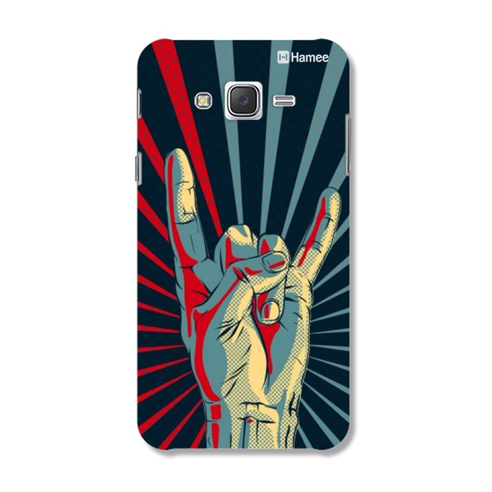 Hamee Hand / Blue X Red Designer Cover For Samsung Galaxy J7-Hamee India