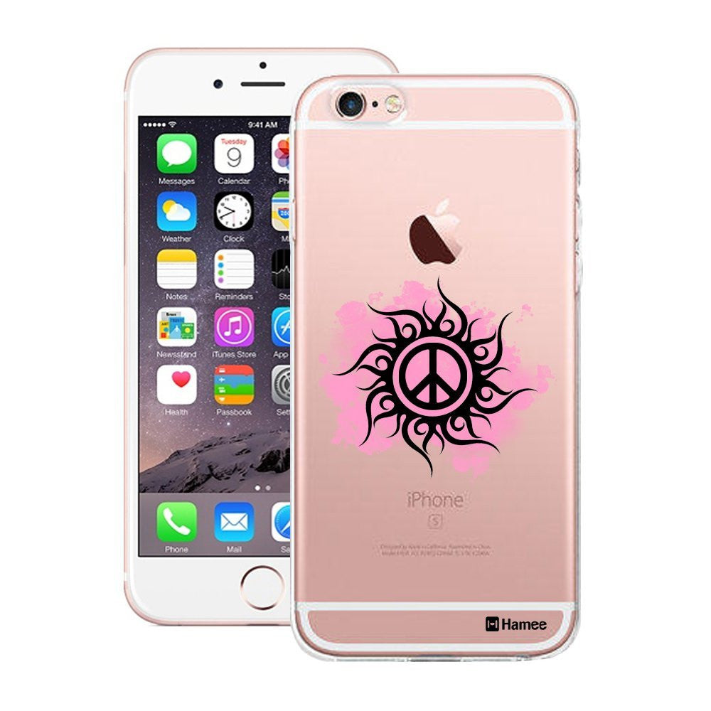 Hamee Pink Peace Designer Cover For Apple iPhone 6 Plus / 6S Plus - Hamee India