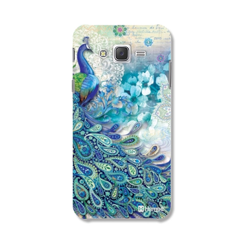 Hamee Side Peacock / Blue Designer Cover For Samsung Galaxy J7-Hamee India