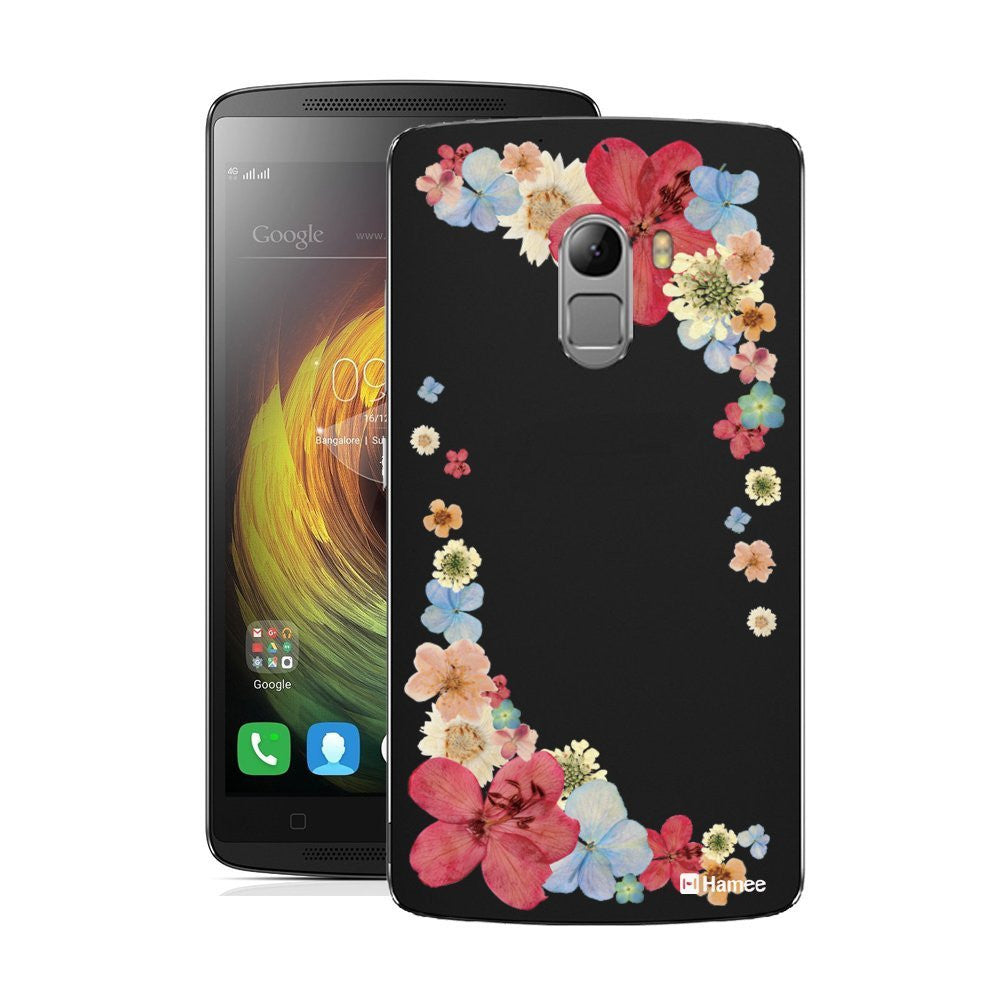 Hamee Red Corner Flowers Designer Cover For Lenovo K4 Note-Hamee India