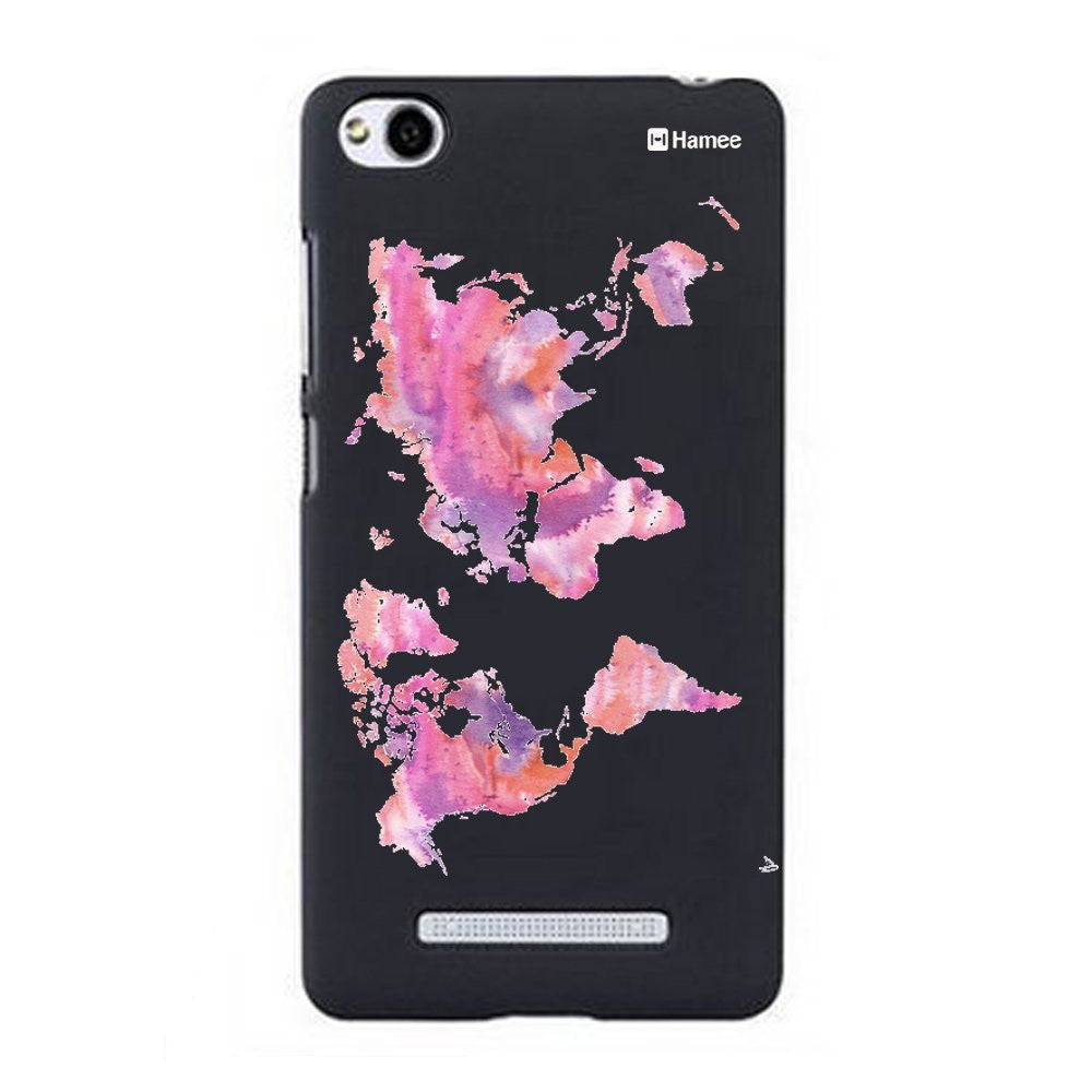 Hamee Pink Map Designer Cover For Xiaomi Redmi 3-Hamee India