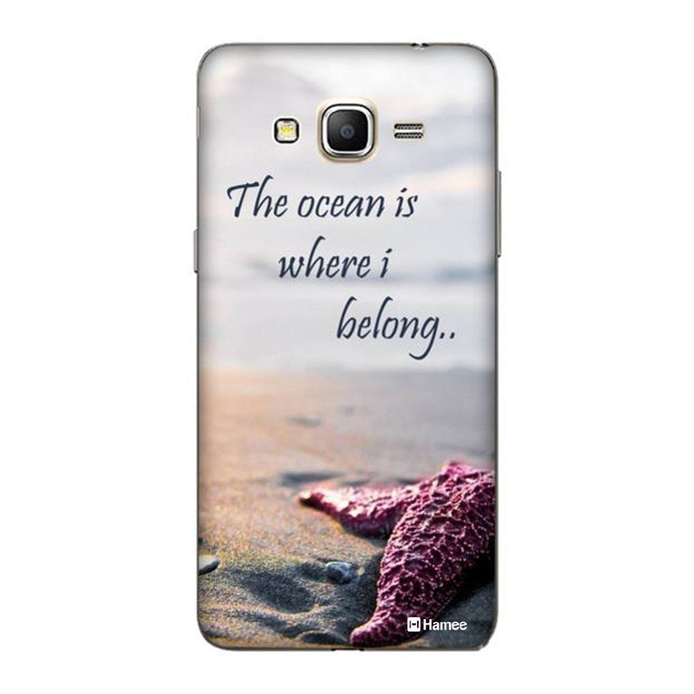 Hamee Ocean Quote Designer Cover For Samsung Galaxy J3 - Hamee India