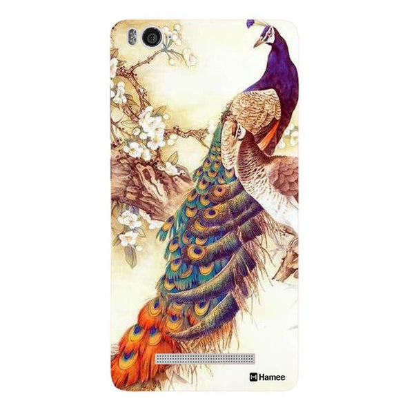 Peacock Illustration Redmi 3 / 3s Back Cover-Hamee India