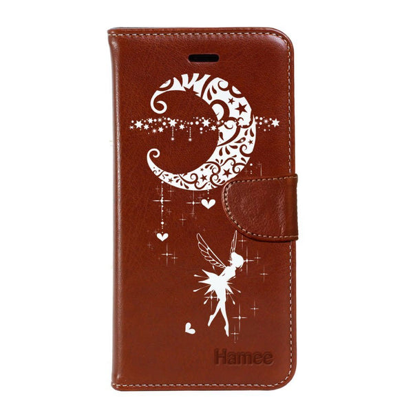 Hamee - Blue Fairy - Premium PU Leather Flip Diary Card Pocket Case Cover Stand for Moto Z2 Play