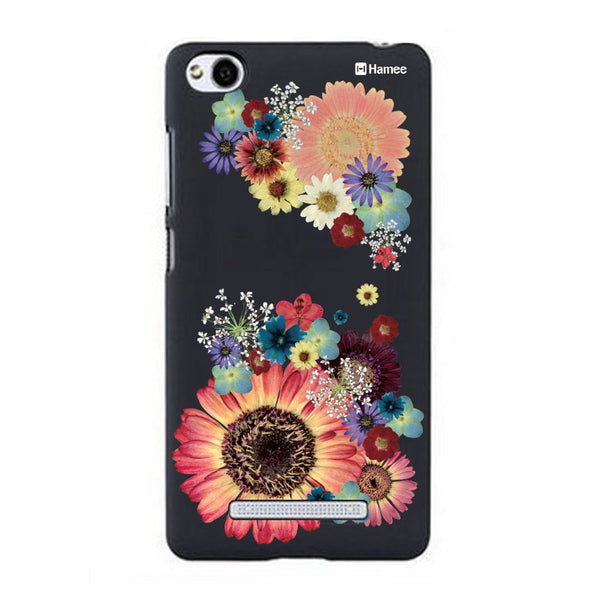 Hamee Big Multicolour Flowers Designer Cover For Xiaomi Redmi 3-Hamee India