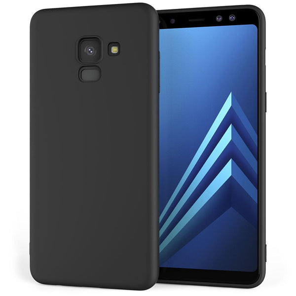 BLACK SOFT TPU CASE FOR SAMSUNG GALAXY A6 (2018)-Hamee India