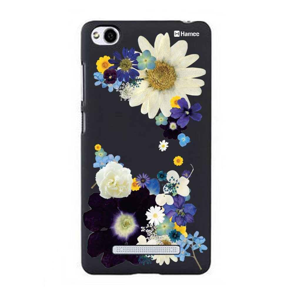 Hamee Big Blue Flowers Designer Cover For Xiaomi Redmi 3-Hamee India