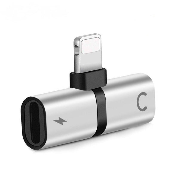 Silver - Adapter for iPhone / iPad