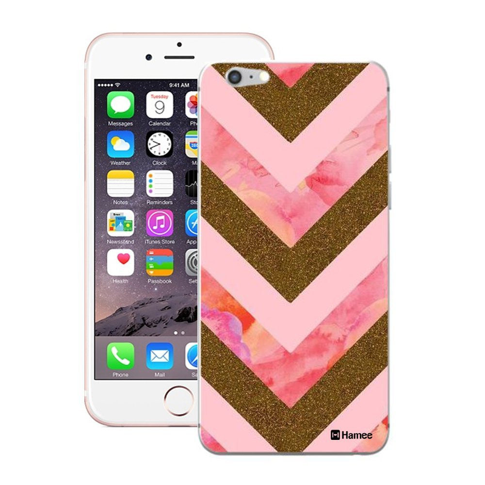 Hamee Pink Gold Arrows Designer Cover For iPhone 5 / 5S / Se-Hamee India