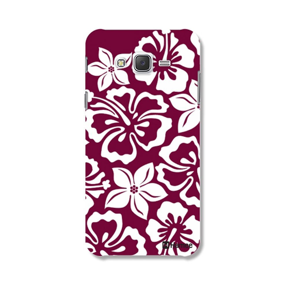 Hamee Full Flowers / Purple X White Designer Cover For Samsung Galaxy J7-Hamee India