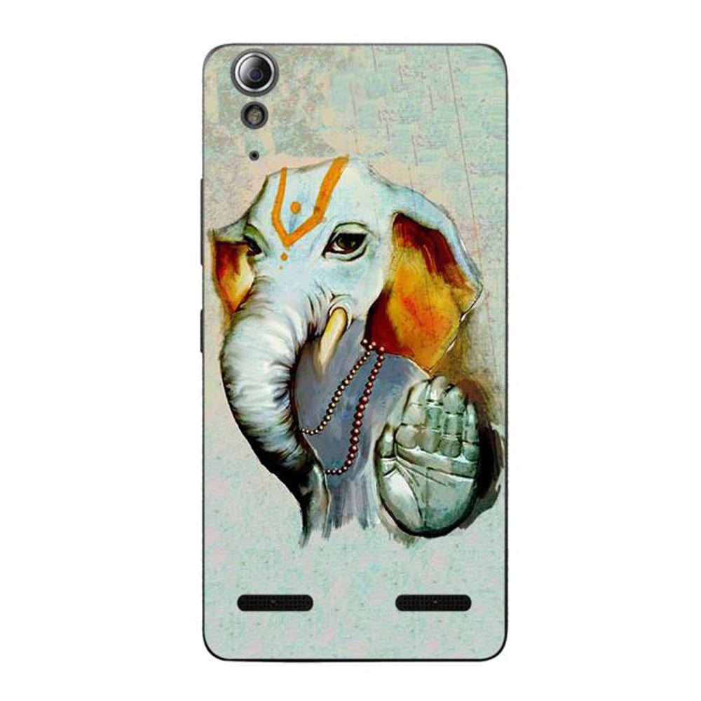 Hamee Ganesha Blessings / Multicolour Designer Cover For Lenovo A6000 / A 6000 Plus - Hamee India