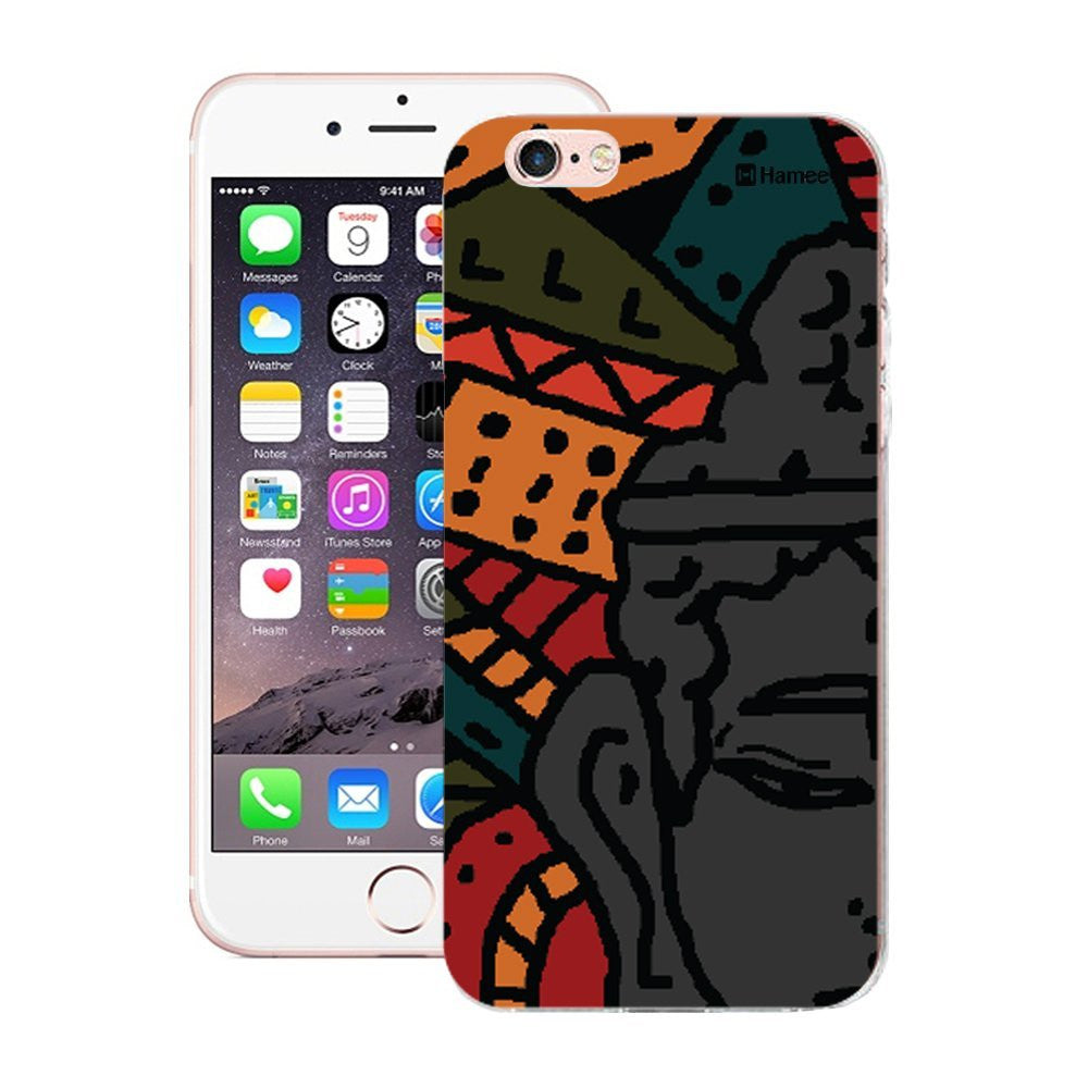 Hamee Abstract Buddha Designer Cover For Apple iPhone 6 / 6S-Hamee India