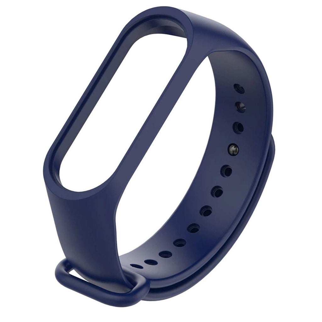 Mi Band 3 Silicon Wrist Strap - Blue-Hamee India