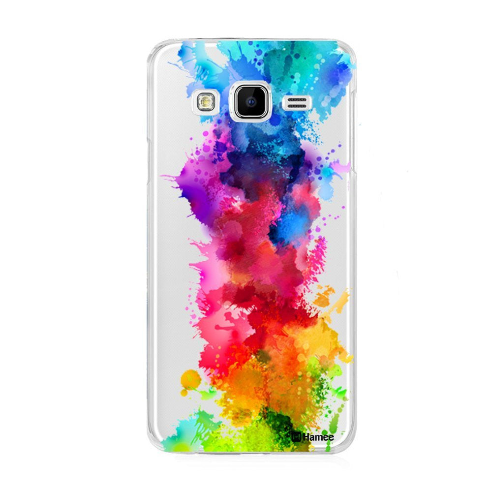 Hamee Multicolour Paint Splash Designer Cover For Samsung Galaxy J7 - Hamee India
