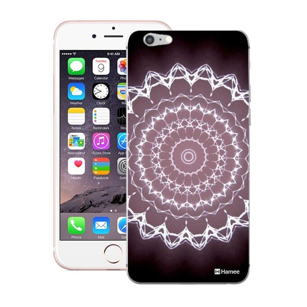Hamee White Purple Kaleidoscope Designer Cover For iPhone 5 / 5S / Se-Hamee India