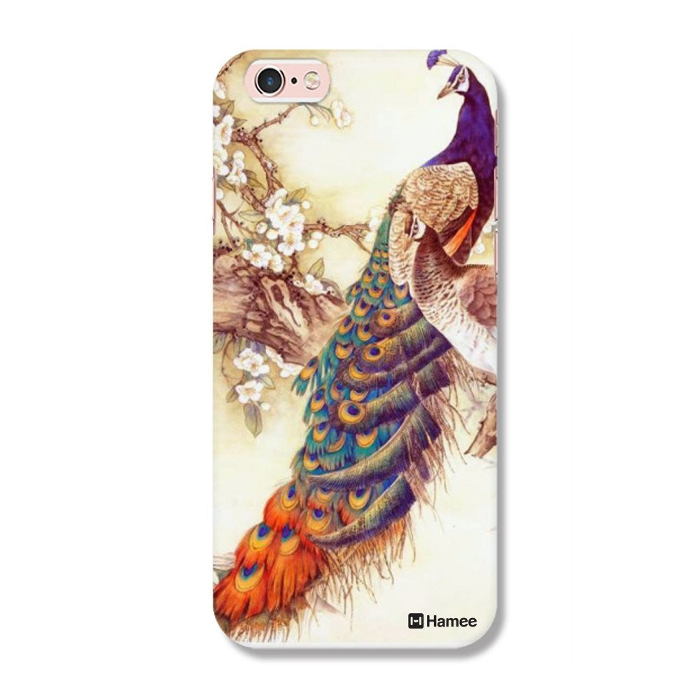 Hamee Peacock Painting / Multicolour Designer Cover For Apple iPhone 6 / 6S-Hamee India