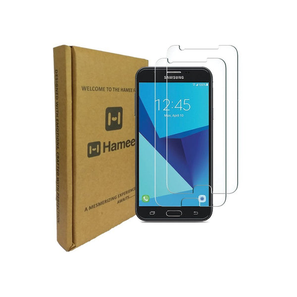Hamee 9H Scratch Resistant Screen Guard for Samsung Galaxy J7 (2017) (Set of 2)-Hamee India