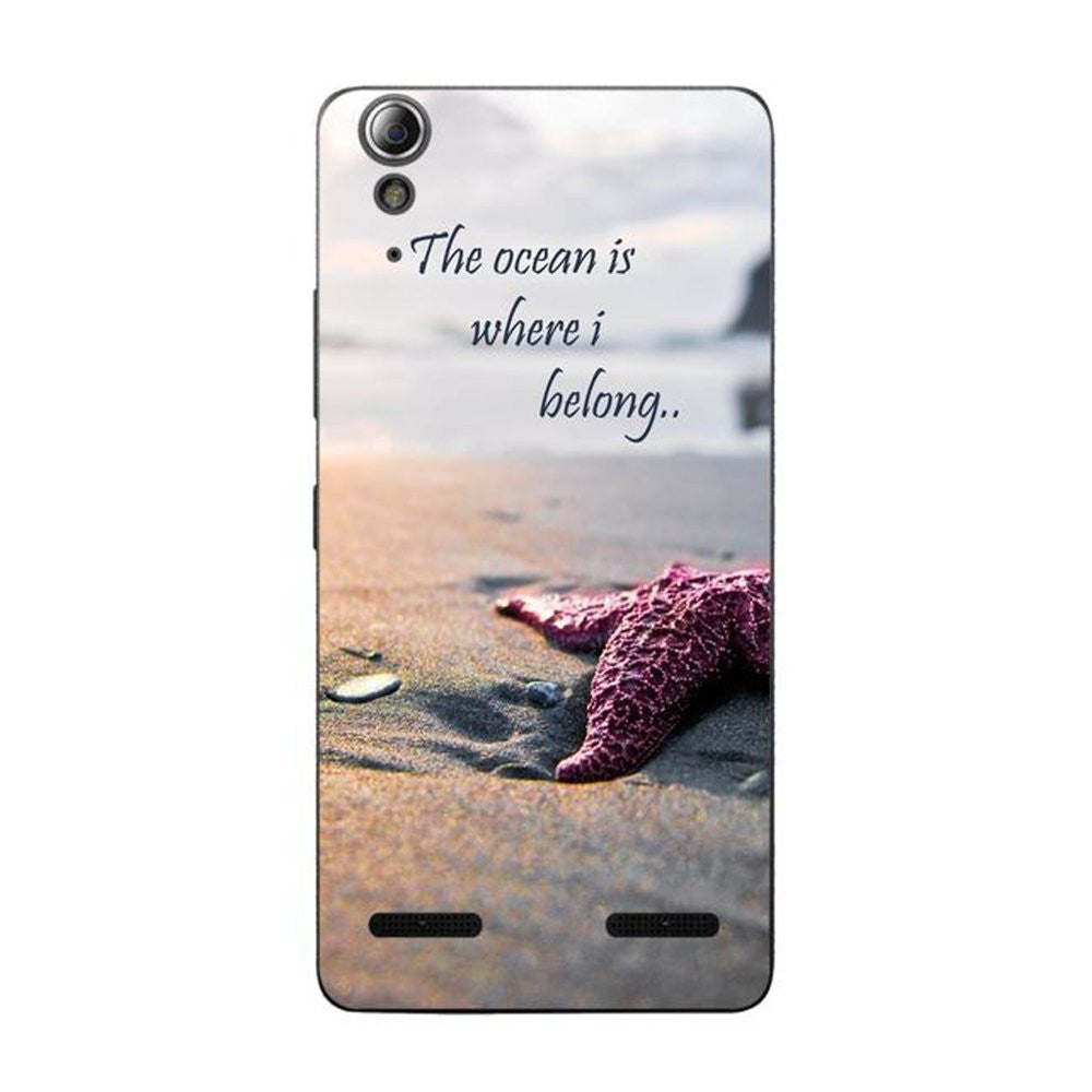 Hamee The Ocean / Multicolour Designer Cover For Lenovo A6000 / A 6000 Plus - Hamee India