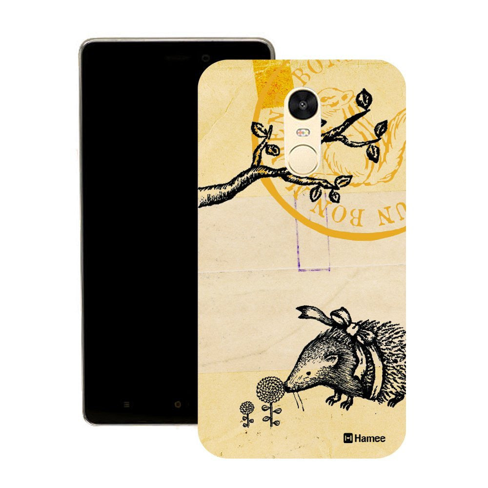 Hamee Hedgehog Stamp Customized Cover for Motorola Moto G4 Plus-Hamee India