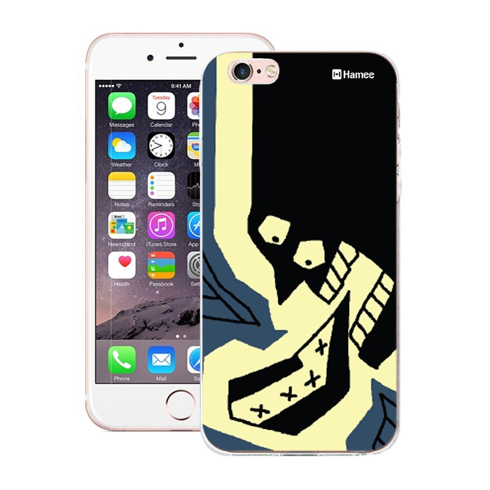 Hamee Black Shouting Face Designer Cover For iPhone 5 / 5S / Se-Hamee India