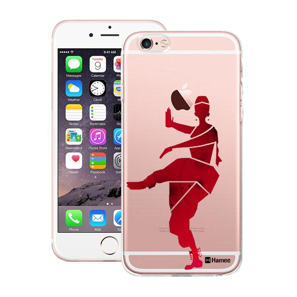 Hamee Red Bharatnatyam Dancer Designer Cover For Apple iPhone 6 Plus / 6S Plus - Hamee India
