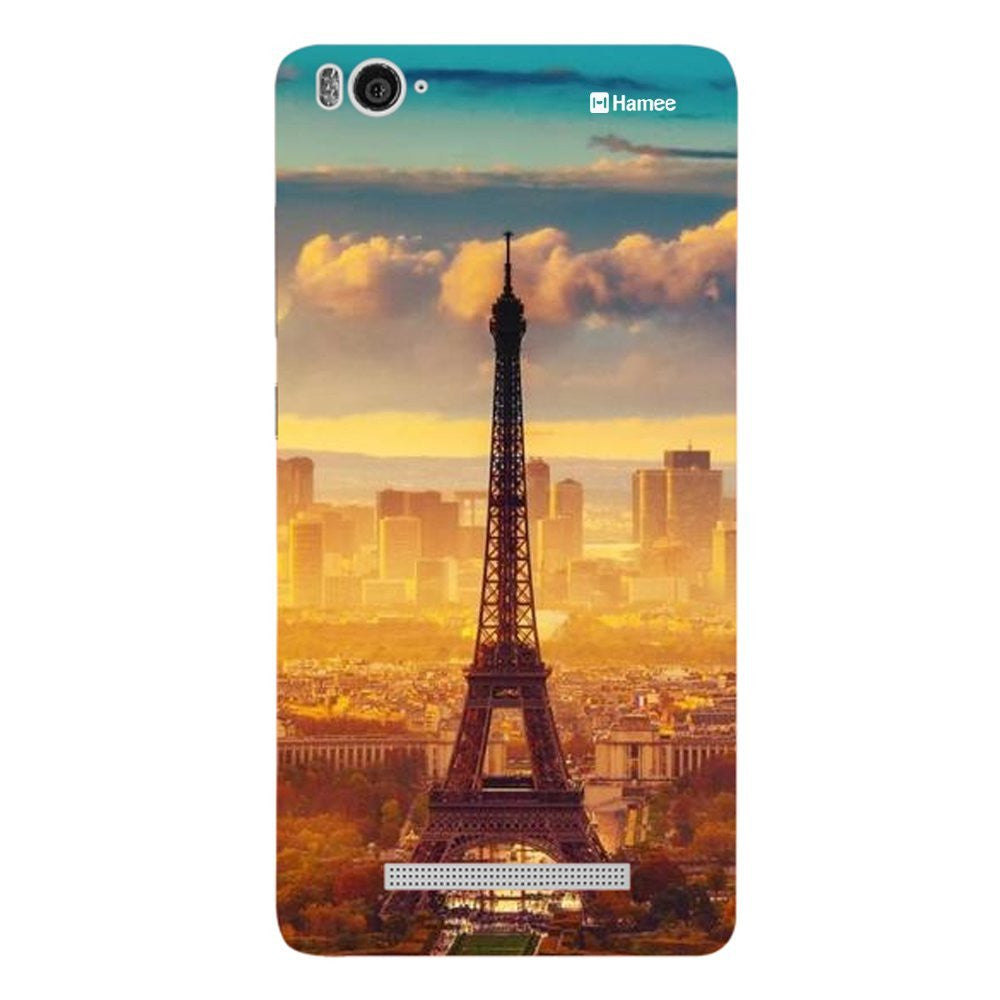 Hamee Orange Blue Eiffel Designer Cover For Xiaomi Redmi 3-Hamee India