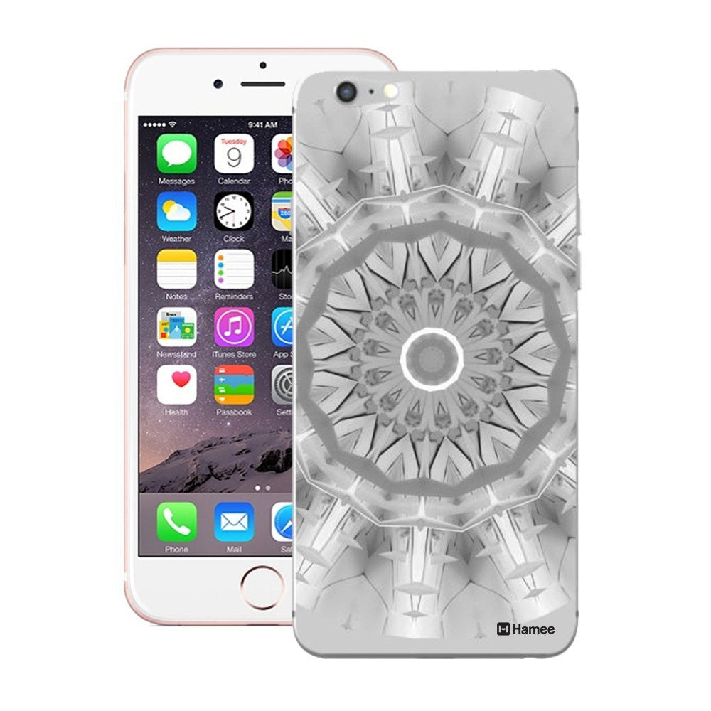 Hamee Grey Kaleidoscope Designer Cover For iPhone 5 / 5S / Se-Hamee India