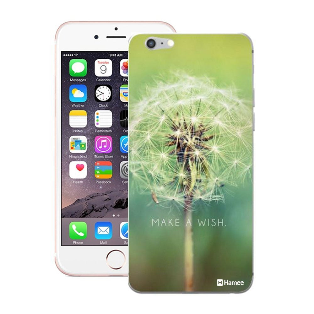 Hamee Designer Cover Hard Back Case for iPhone 5 / 5s / SE (Wish Flower  Green) - Hamee India