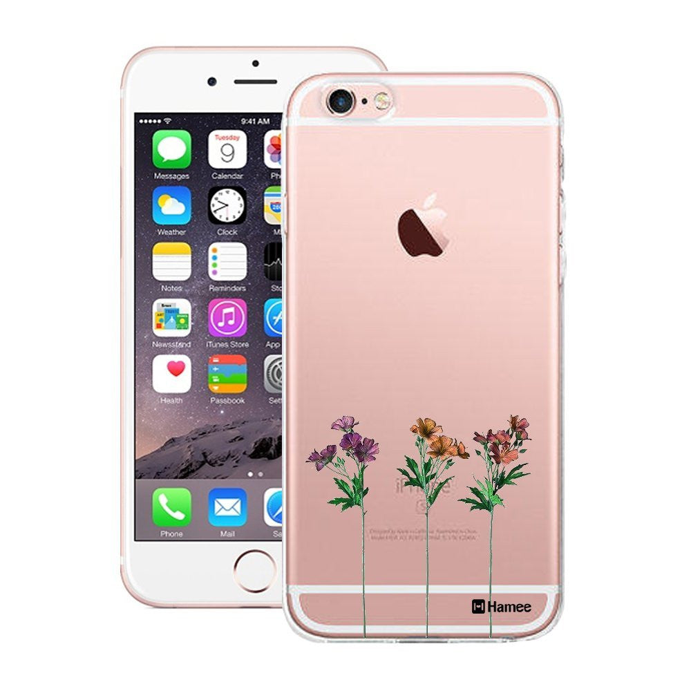 Hamee Three Flowers Designer Cover For Apple iPhone 6 / 6S-Hamee India