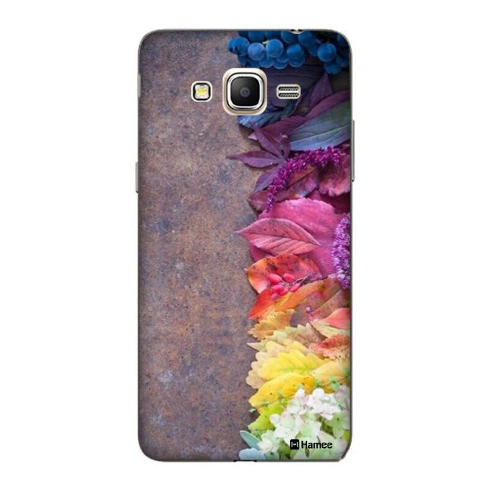 Hamee Flowers On Brown Designer Cover For Samsung Galaxy J7-Hamee India