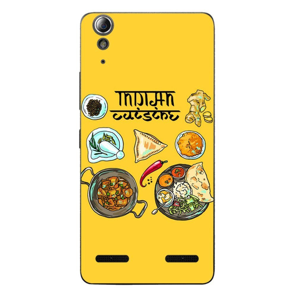 Hamee Indian Cuisine / Multicolour Designer Cover For Lenovo A6000 / A 6000 Plus - Hamee India