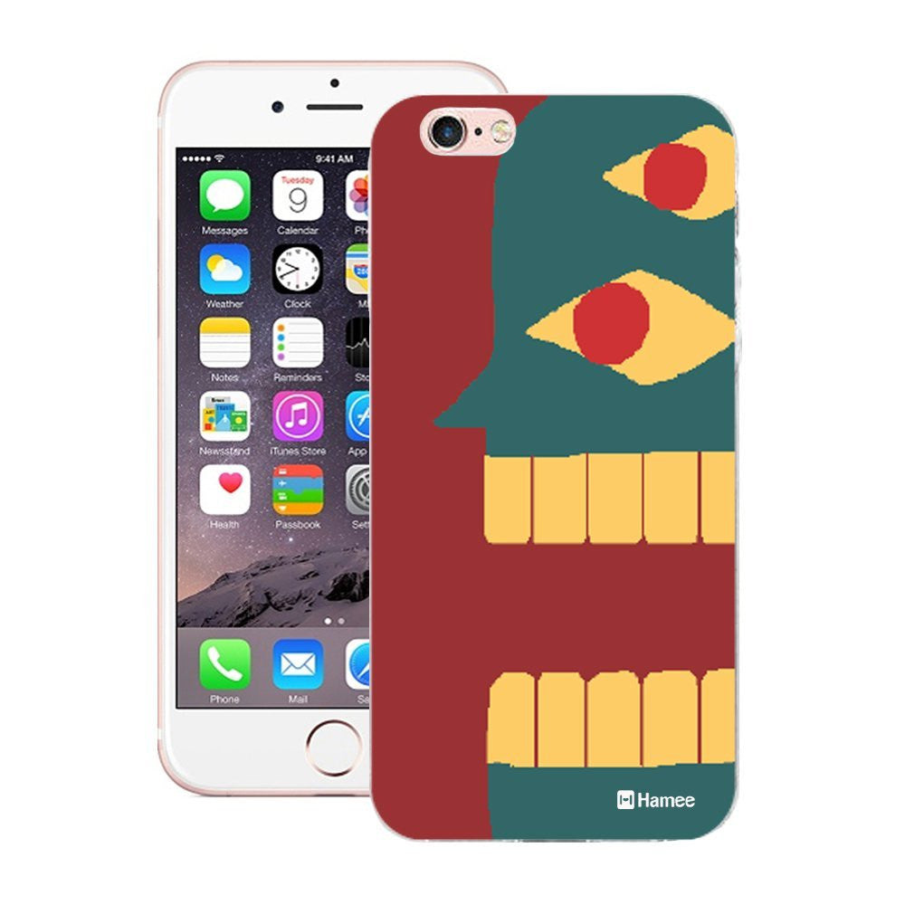 Hamee Blue Face Man Red Designer Cover For Apple iPhone 6 Plus / 6S Plus - Hamee India